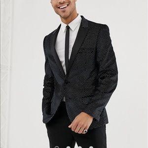 ASOS slim sparkling tuxedo jacket NWT
